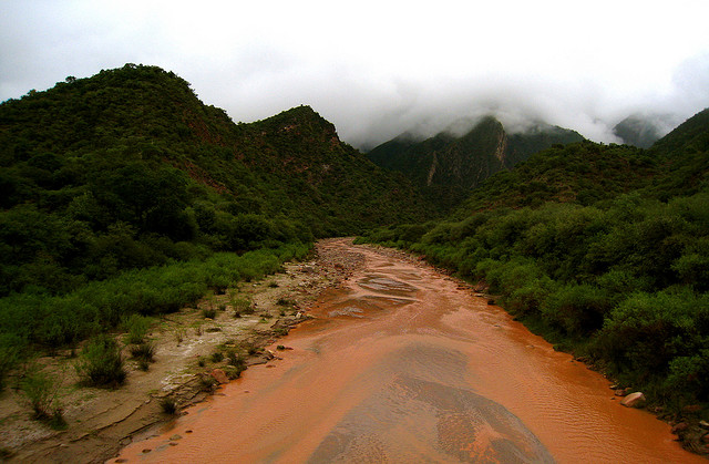 The stream/river in Alemania, Salta, Argentina