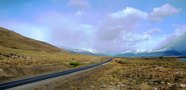The road to the Glaciers National Park